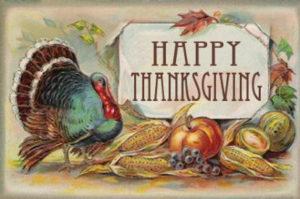 «Thanksgiving» une journée d'action de grâce, en ce jeudi 22 novembre 2018!