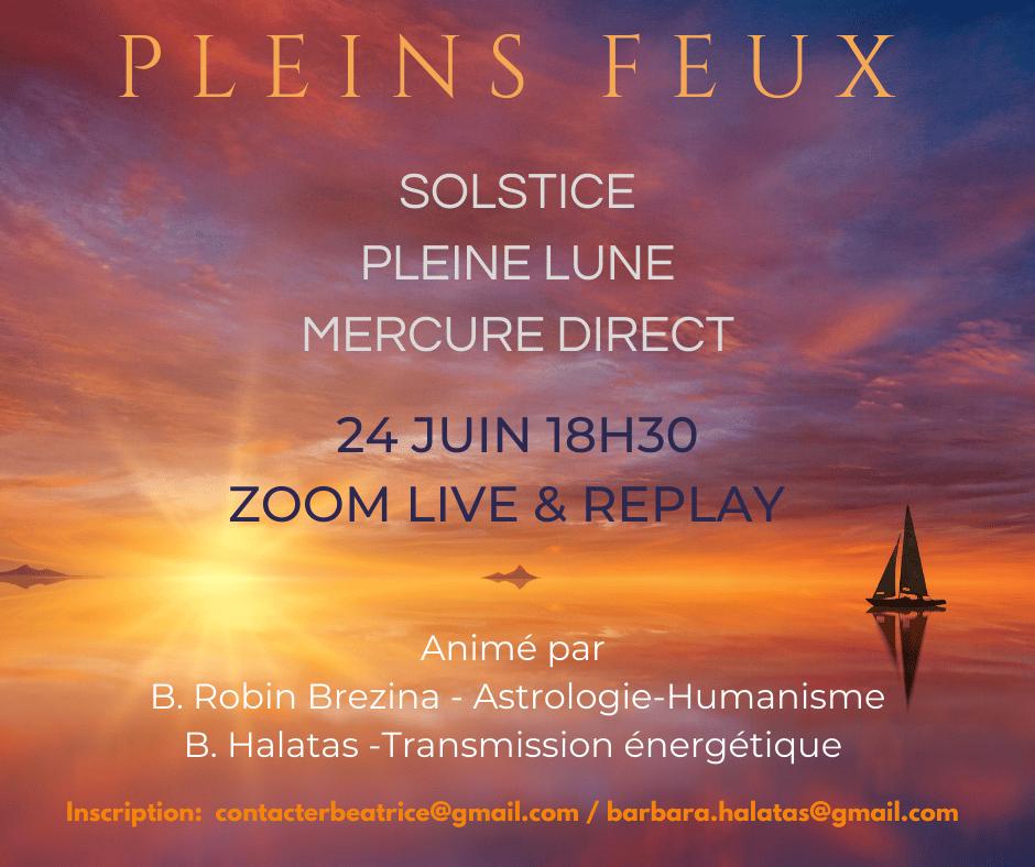 Langage Vibratoire inter-planétaires – Pleins Feux le 24 juin 2021 à 18h30