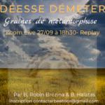 Read more about the article Langage Vibratoire » La déesse Démeter» 27/9/2021 – 18h30